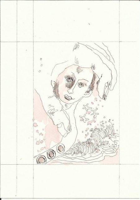 Bewusst Sein 2. Blatt (c) Zeichnung von Susanne Haun