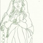 Maria Vers 3 (c) Zeichnung von Susanne Haun