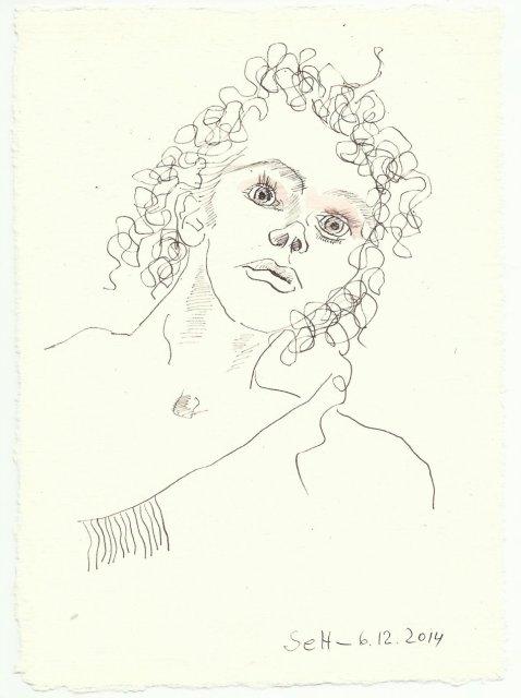 Tagebucheintrag Susanne Haun 06 12 2014 (c) Zeichnung von Susanne Haun