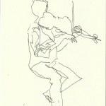 Im Konzerthaus - Geiger (c) Zeichnung von Susanne Haun 0003