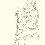 Im Konzerthaus - Violinist (c) Zeichnung von Susanne Haun 0004