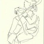 Im Konzerthaus - Violinistin (c) Zeichnung von Susanne Haun 0010