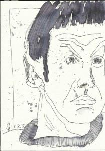 Mein Sinnbild von Spock (c) Zeichnung von Susanne Haun