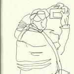 Fotografieren im Kolloseum (c) Zeichnung von Susanne Haun