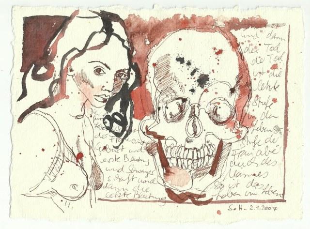 Die Fünf Lebensstufen der Frau (c) Zeichnung von Susanne Haun