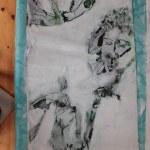 Entstehung Leinwand Natur (c) Zeichnung auf Leinwand von Susanne Haun