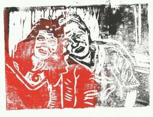 Ulli und ich (c) Linolschnitt von Susanne Haun 0003