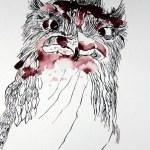 Zwischenstand Eule (c) Zeichnung von Susanne Haun