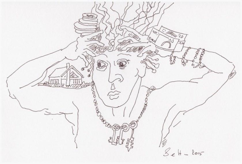 Die Bindung des Geistes (c) Zeichnung von Susanne Haun