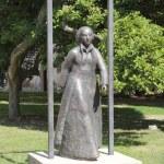 Katharina von Bora auf dem Hof des Lutherhauses (c) Foto von Susanne Haun