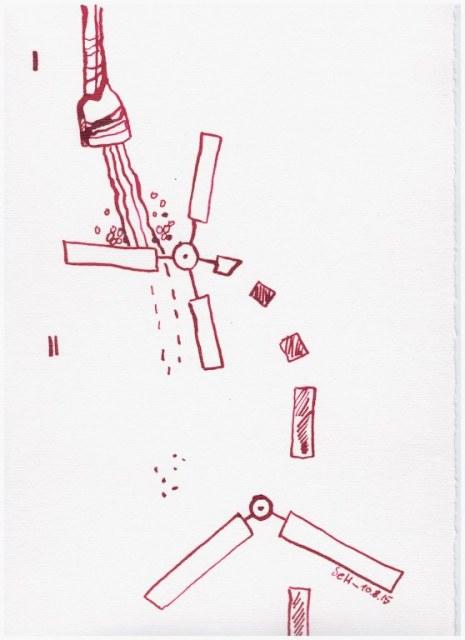 Weggegossen No. 10 (c) Zeichnung von Susanne Haun