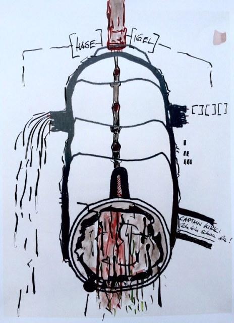 Weggegossen No. 14  (c) Zeichnung von Jürgen Küster