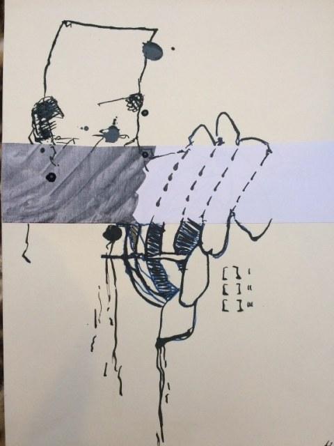 Weggegossen No. 17  (c) Zeichnung von Jürgen Küster