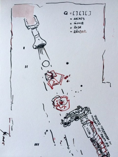 Weggegossen No. 7 b  (c) Zeichnung von Jürgen Küster