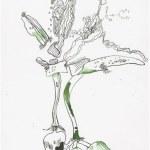 Weggegossen No. 23 a (c) Zeichnung von Susanne Haun