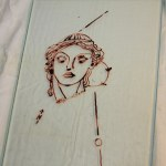 Entstehung Merkur - Zeichnung auf Glas (c) Objekt von Susanne Haun
