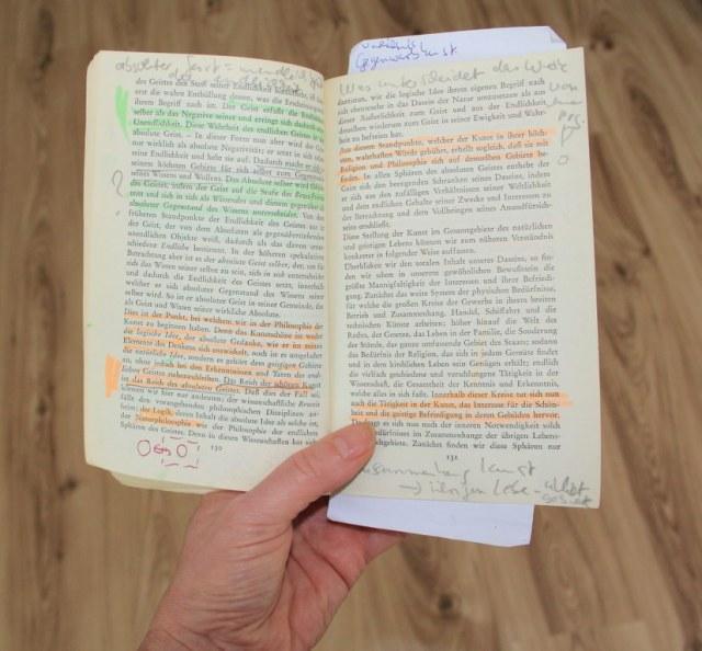 Mein bearbeiteter Hegel (c) Foto von Susanne Haun