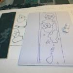 Entstehung Zusammenhang - Zusammenbruch (c) Linolschnitt von Susanne Haun