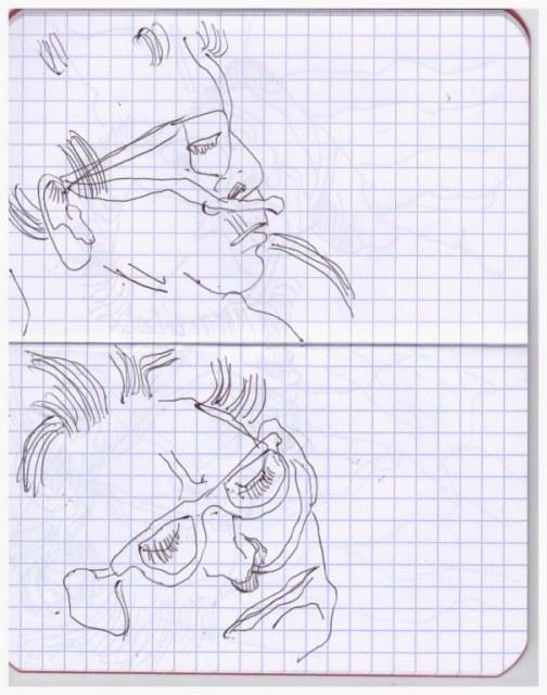 Äussere Vergänglichkeit - 15 x 12 cm (c) Zeichnung von Susanne Haun