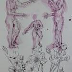 Das Urteil des Paris - Version 1 (c) Zeichnung von Susanne Haun