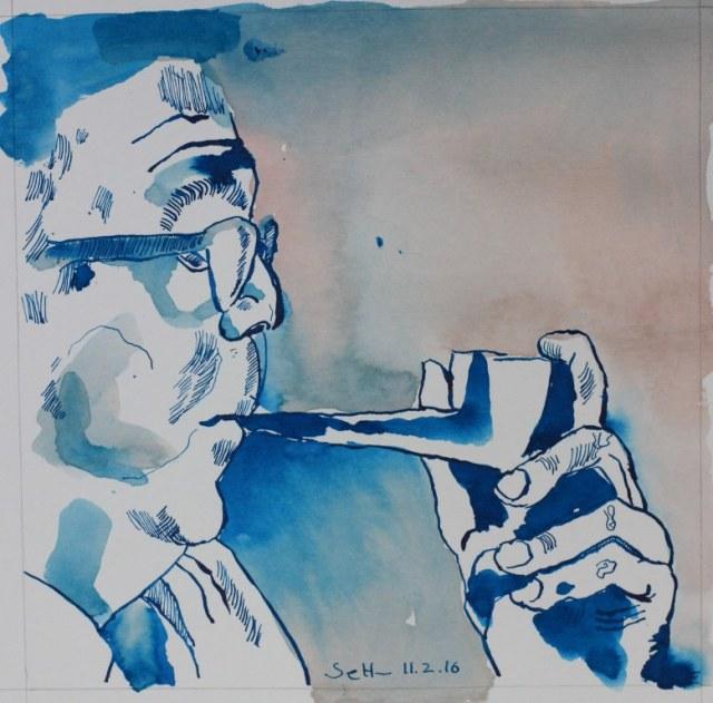 Max Frisch - Zeichnung von Susanne Haun