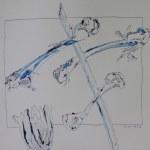 Fragment Vergänglichkeit gedreht mit gezeichneten Rahmen (c) Zeichnung von Susanne Haun