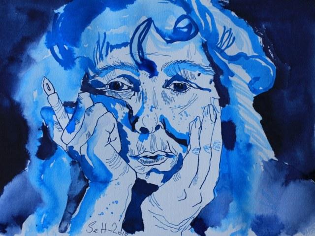Susanne Haun -- Ich 2016 - 24 x 36 cm (c) Zeichnung von Susanne Haun