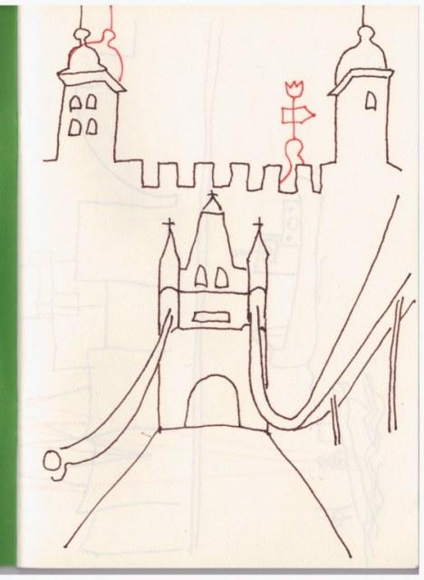 Skizzenbuch London (c) Zeichnung von Susanne Haun
