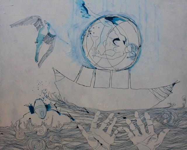 Zwischenergebnis - Dantes Barke des Vergessens (c) Zeichnung von Susanne Haun