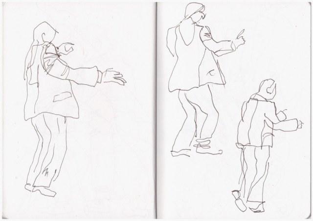 Im Hayden Konzert (c) Zeichnung von Susanne Haun
