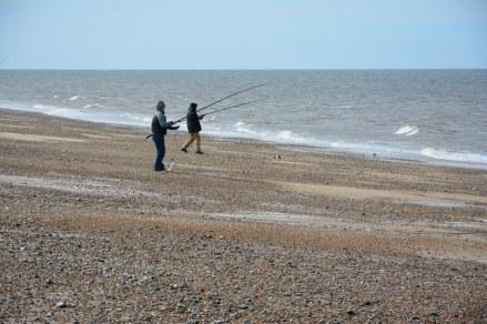 Angler am Strand (c) Foto von M.Fanke