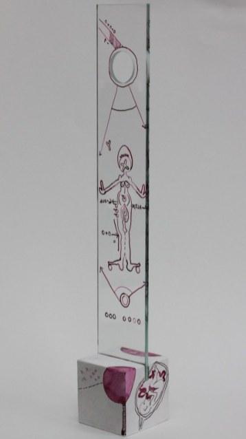 #66 Detail die Obszönität der Vermessung der Null (c) Glasobjekt von Susanne Haun