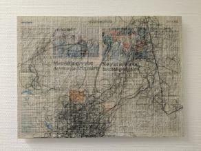 Gewebtes Gemälde von Eva Lippert (c) Foto von Doreen Trittel aufgenommen auf der Textil Art Berlin 2015