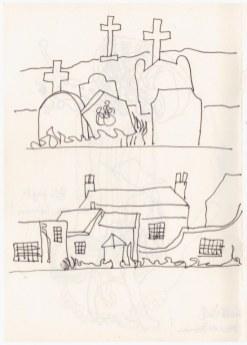 St Margaret's Church in Cley next the sea (c) Zeichnung von Susanne Haun