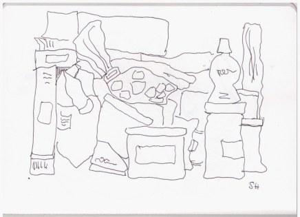 In meinen Küchenschränken (c) Zeichnung von Susanne Haun