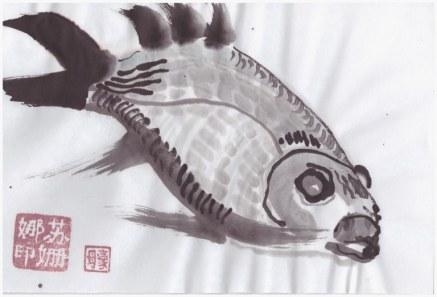 Fisch (c) Zeichnung von Susanne Haun
