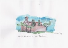 Toskana (c) Zeichnung von Susanne Haun