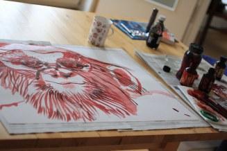Entstehung des Feueraffen (c) Zeichnung von Susanne Haun