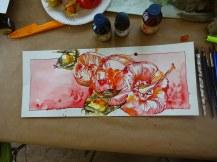Entstehung der Paprika von Dorothea im Panoramaformat (c) Foto von Susanne Haun