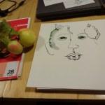 Entstehung Apfelgesicht (c) Foto von Susanne Haun