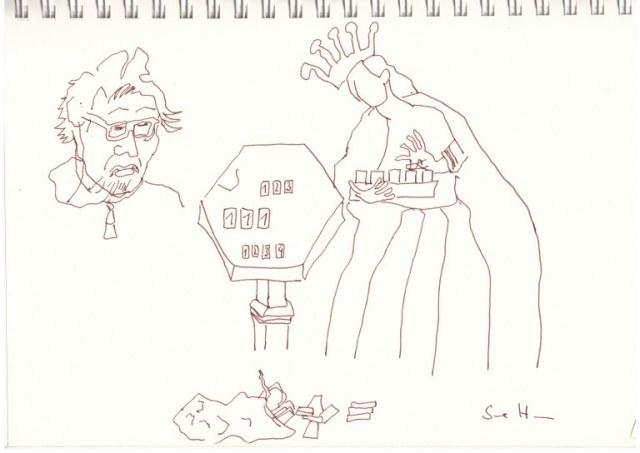 Interpretationen der Rolin Madonna Version 2 (c) Zeichnung von Susanne Haun