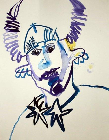 3 Der Pechsee des Teufels - 50 x 70 cm - Tusche und Aquarell auf Bütten (c) Zeichnung von Susanne Haun
