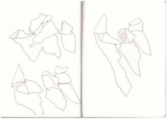 Bergkristalle (c) Zeichnung von Susanne Haun