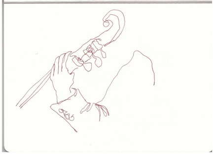 Im Konzerthaus bei Sibelius (c) Zeichnung von Susanne Haun