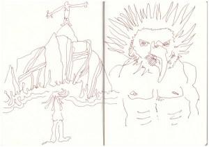 Eiswelten - Fulmur - Sturmvogel - Version 3 (c) Zeichnung von Susanne Haun