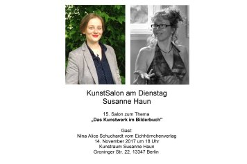 Einladung Kunstsalon Nina - Eichhörnchenverlag