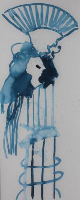 Lot und seine Frau - 2. Entwurf - 50 x 20 cm - Tusche auf Bütten (c) Zeichnung von Susanne Haun