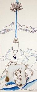Ausgelotet – Vanitas Stillleben Vers. 3 – 50 x 20 cm – Hahnemühle Aquarellkarton (c) Zeichnung von Susanne Haun