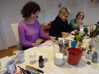 1 Impressionen Weihnachts-Workshop bei Susanne Haun (c) Foto von Susanne Haun