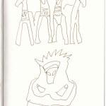 Athen im Museum of Cycladic Art (c) Zeichnung von Susanne Haun